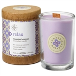 Relax - Geranium Lavender Scented Soy Candle Crackling Wooden Wick 6.5 oz. (308873)