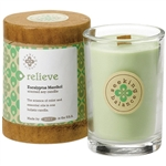 Relieve - Eucalyptus Menthol Scented Soy Candle Crackling Wooden Wick 6.5 oz. (308875)