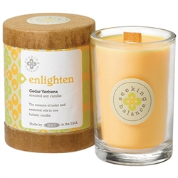 Enlighten - Cedar Verbena Scented Soy Candle Crackling Wooden Wick 6.5 oz. (308876)