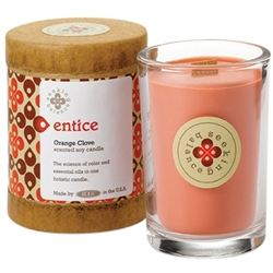 Entice - Orange Clove Scented Soy Candle Crackling Wooden Wick 6.5 oz. (308878)
