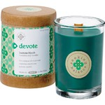 Devote - Jasmine Myrrh Scented Soy Candle Crackling Wooden Wick 6.5 oz. (308931)