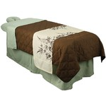 "Premium Table Skirt - Sage 32.25""W x 73""L x 22""H (310011)"
