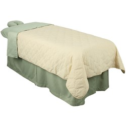 "Premium Quilted Blanket - Natural 58""W x 85""L (310013)"