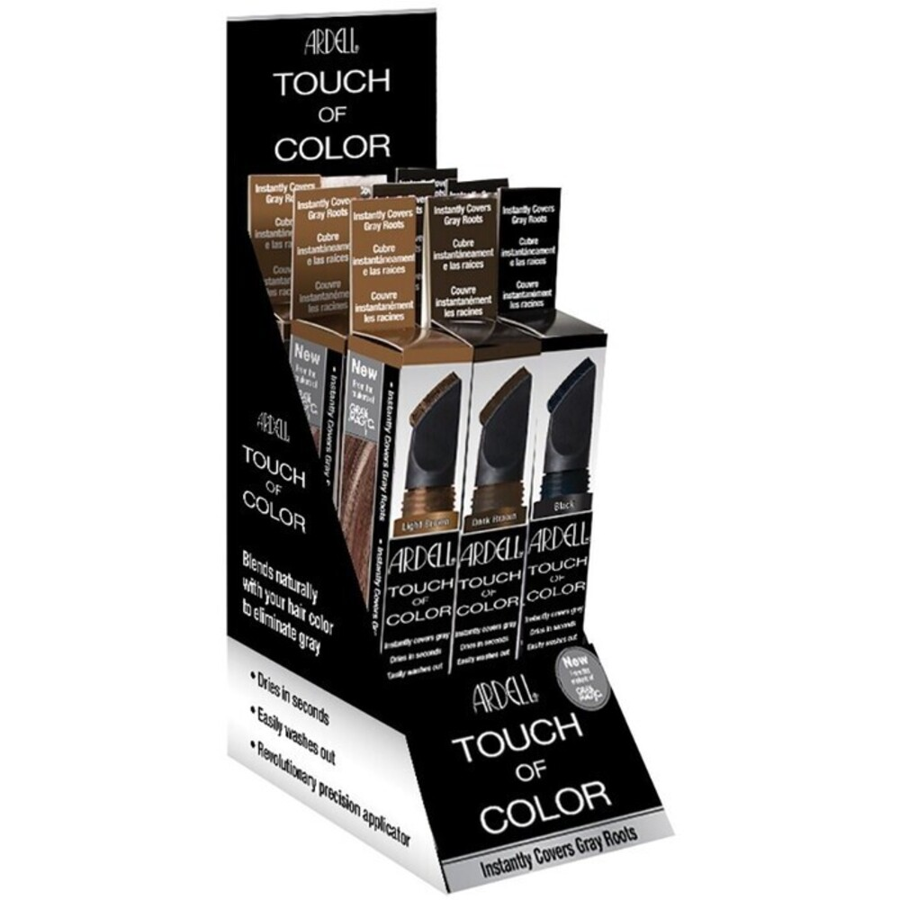 Ardell touch of color 9 piece display 312294 for Color touch salon