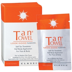 Self Tan Towelette Half Body Application for Face & Body Classic - Fair to Medium Skin Tones 10 Pack
