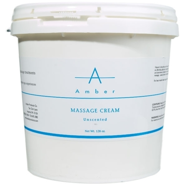 AMBER PRODUCTS Massage Cream Unscented 1 Gallon