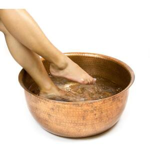 PEDICURE BOWLS Hammered Copper Pedicure Bowl