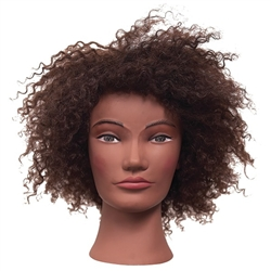 "Amber Manikin Head 100% Human Hair 10"" Hair Length Care & Maintenance: Curly textured mannequins and caps should be combed out prior to use. This will prevent matting of the"
