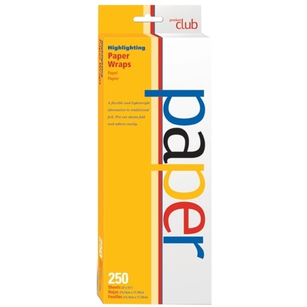 PRODUCT CLUB Highlighting Paper Wraps 250-Count (440021)