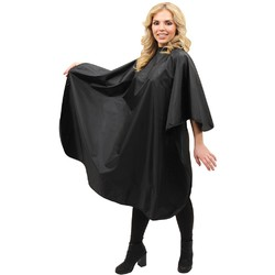 "Poly Chemical Cape - Black 58""L x 47""W (440533)"