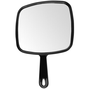 "Large Hand Mirror - Black 9""W x 12""L (446211)"