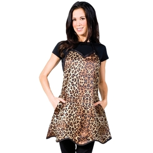 "Betty Dain Leopard Couture Apron 31""W x 27""L (447035)"