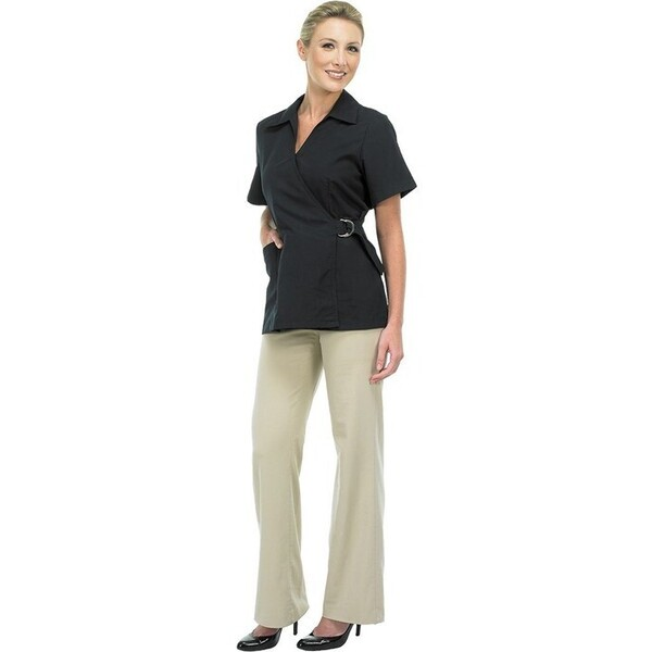 Canyon Rose Esthetician Wrap Jacket - Black Small (447105)