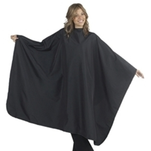 "DIAMOND TECHNICAL Mega Client Cape Fits up to a 24"" Neck 58""W x 68""L Black. (447167)"