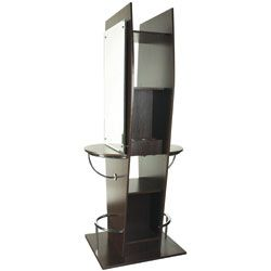 TISPRO Double Styling Station with Mirror Wenge