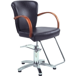 TISPRO Louve Styling Chair Black with Cherry Wood (490563)
