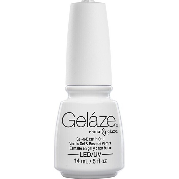China Glaze Gelaze - White On White Gelaze 2-in-1 Gel Polish System - Gel-n-Base In One! (517621)