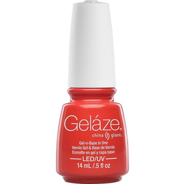 China Glaze Gelaze - Coral Star Gelaze 2-in-1 Gel Polish System - Gel-n-Base In One! (517649)