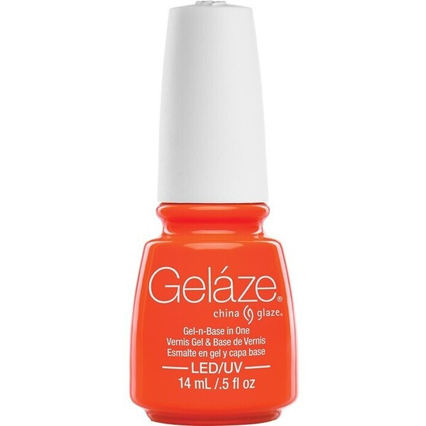 China Glaze Gelaze - Orange Knockout Gelaze 2-in-1 Gel Polish System - Gel-n-Base In One! (517652)