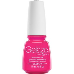 China Glaze Gelaze - Pink Voltage Gelaze 2-in-1 Gel Polish System - Gel-n-Base In One! (517656)