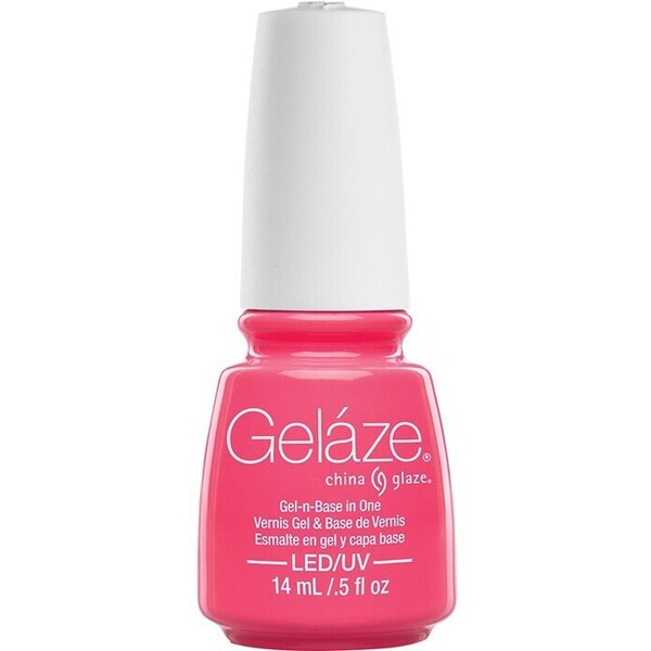 China Glaze Gelaze - Shocking Pink Gelaze 2-in-1 Gel Polish System - Gel-n-Base In One! (517657)