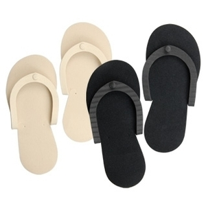 CUCCIO NATURALE Black Pedicure Slippers 1 Pair (662296)