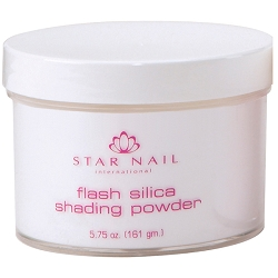 STAR NAIL Flash Silica Shading Powder Super White 5.75 oz. (662383)