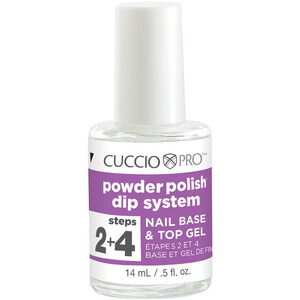 Cuccio Pro - Powder Polish Nail Colour Dip System - Step 2 + 4 - Nail Base & Top Gel 0.5 oz. (663560)