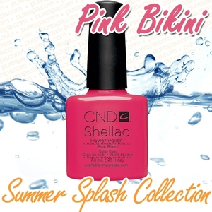 CND Shellac 2013 Summer Splash Collection - Pink Bikini / 0.25 oz. - 7.3 mL - The 14 Day Manicure is Here!