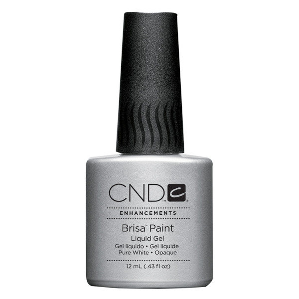 CREATIVE NAIL DESIGN White Brisa Gel Paint 0.43