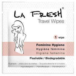 LA FRESH Feminine Hygiene Travel Wipes 200 Count (800156)
