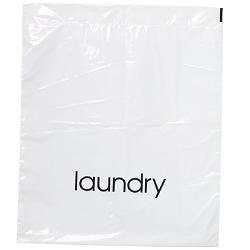 "FOR PRO Plastic Laundry Bags 21.5""H x 18""W x 2"" White 500 Count (800500)"