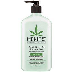 Hempz Herbal Body Moisturizer - Exotic Green Tea & Asian Pear 17 oz. (995126)