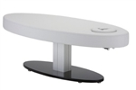 Everest Oval Single Pedestal Electric Lift Table