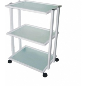 Alvida Metal Trolley with 3 Mat-Glass Shelves (TGL