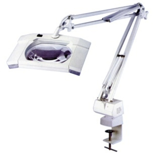 Alvida Square 5X Diopter Magnifier Tabletop Lamp (