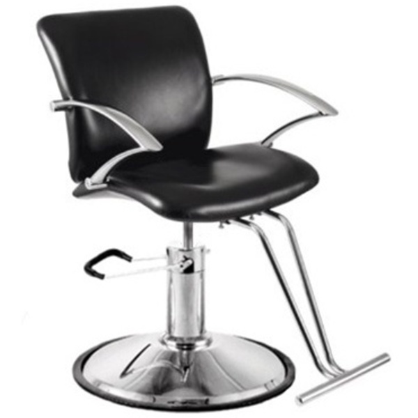 Encore Cristofano Styling Chair Round Base (H-2115BKR)