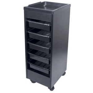 Encore Black Roll About Trolley with Removable Trays (H-2758BK)