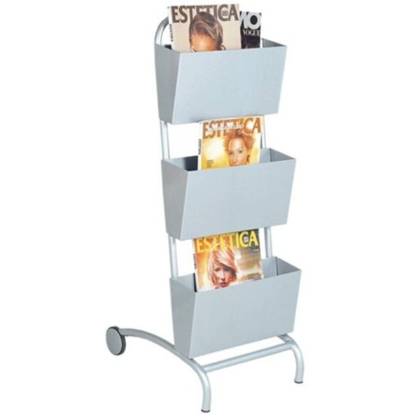 Encore Magazine Racks with 2 Holder Bins (H-2761)