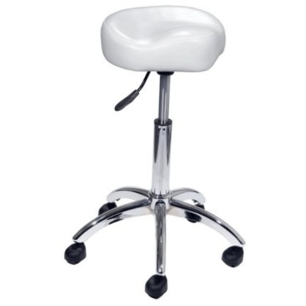 Encore Pneumatic Bicycle Shape Technician Chair White (H-9171W)
