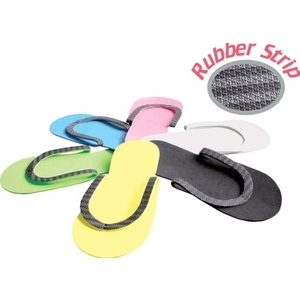 Encore Slip Resistant Foam Pedicure Thong Slippers with Cloth Reinforced Soles Mixed Colors Case of 360 Pair (DTSR-NM)