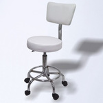 Rolling Stool with Back (SM123)