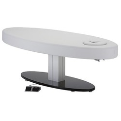 LEC Oval Pedestal Flat Massage Top Electric Lift Table ()