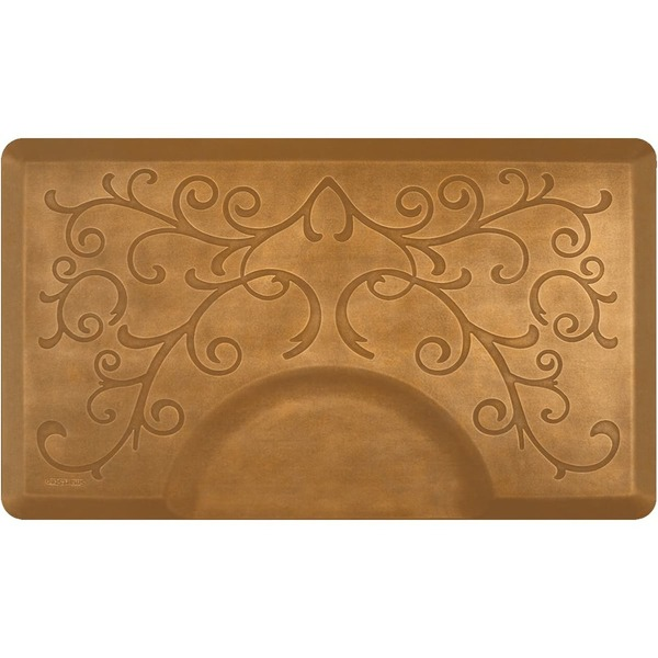 3'x5' Estates Collection Rectangle Salon Mat with Chair Depression in Bella Copper Leaf (SS3050R75BCL)