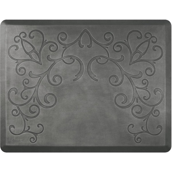 4'x5' Estates Collection Salon Mat without Chair Depression in Bella Silver Leaf (SS4050BN75BSL)