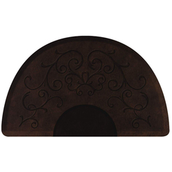 3'x5' Antique Collection Round Salon Mat with Chair Depression in Bella Dark Antique (SS3050C75BDK)
