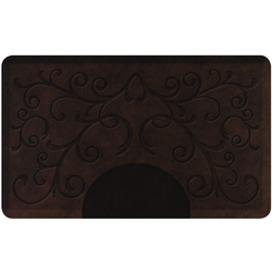 3'x5' Antique Collection Rectangle Salon Mat with Chair Depression in Bella Dark Antique (SS3050R75BDK)