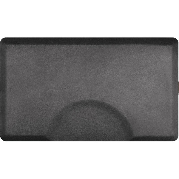 3'x5' Granite Collection Rectangle Salon Mat with Chair Depression in Granite Steel (SS3050R75GS)