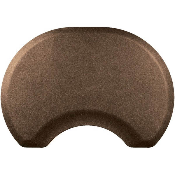2.5'x3.5' Granite Collection Round Salon Mat with Chair Depression in Granite Copper (SS2535C75GC)