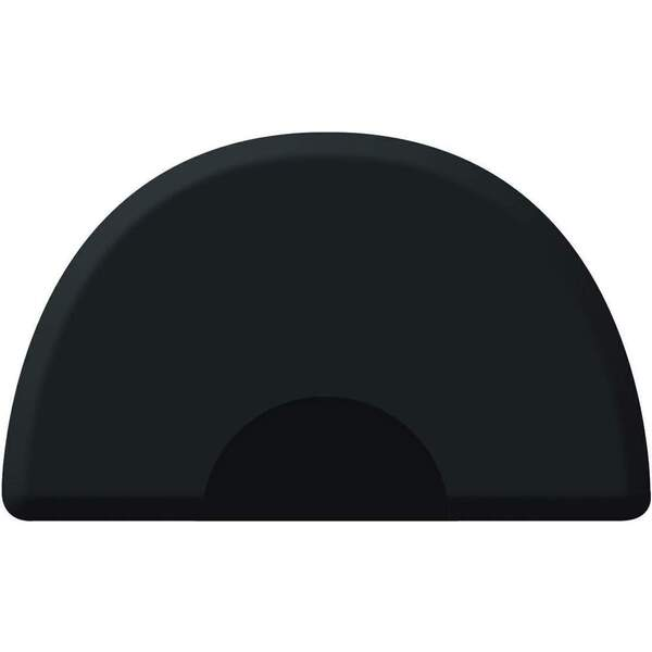 3'x5' Tough Guy Round Salon Mat with Chair Depression in Black (TG3050C62)